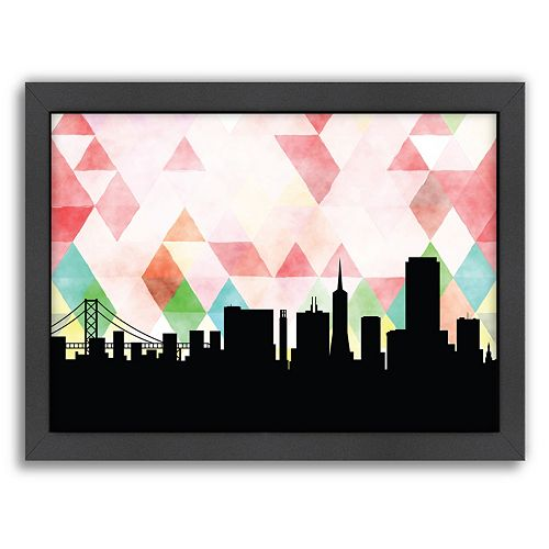 Americanflat PaperFinch San Francisco Skyline Framed Wall Art