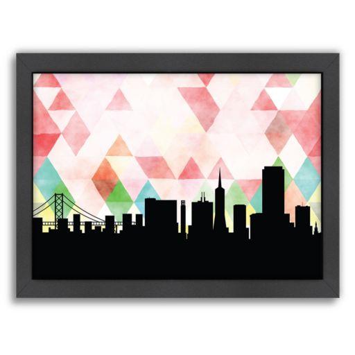 Americanflat PaperFinch San Francisco Skyline Framed Wall Art