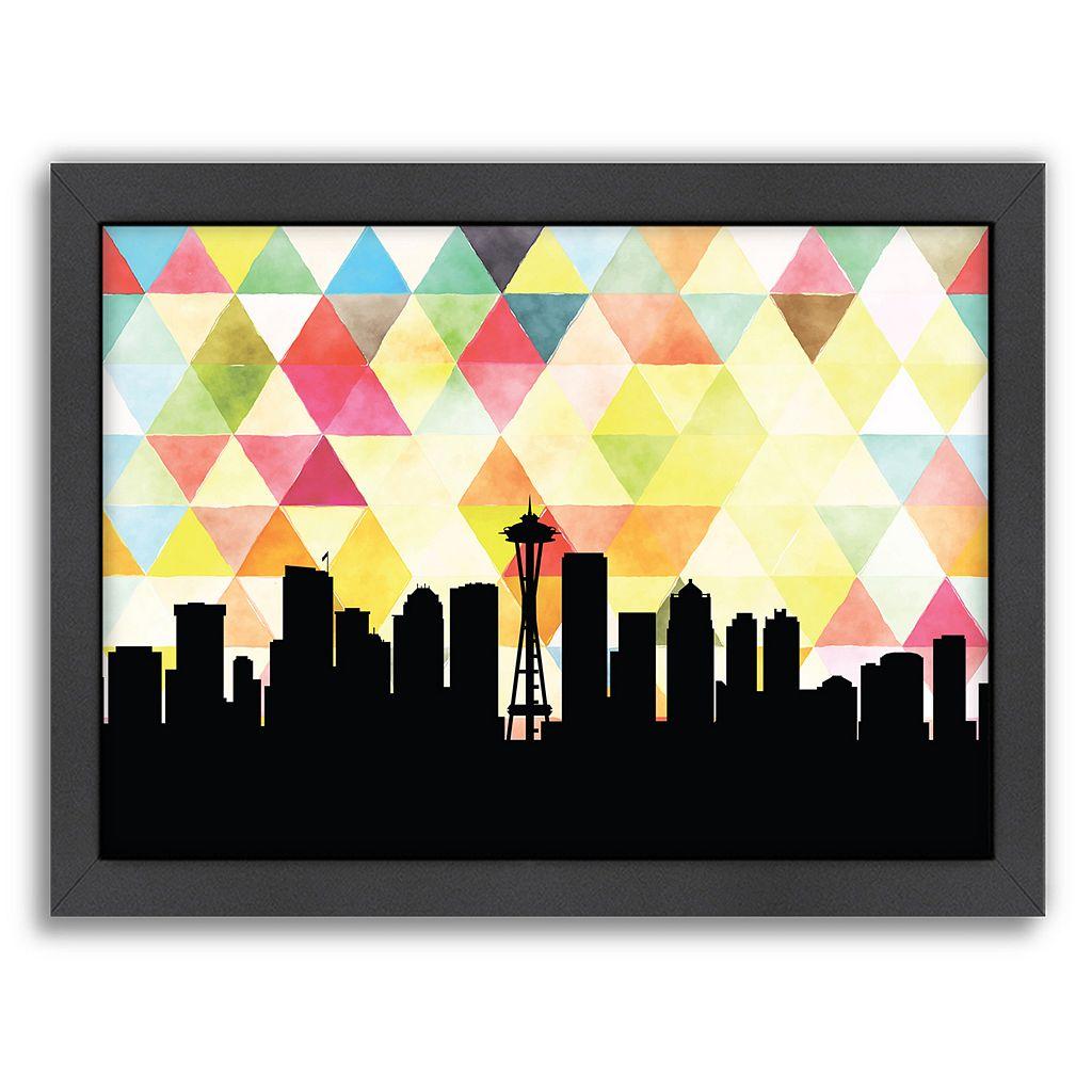 Americanflat Seattle Triangle Framed Wall Art