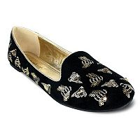 Olivia Miller Beacon Women's Sequin Bumble Bee Smoking Flats