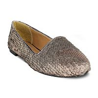 Olivia Miller Columbus Women's Sequin Smoking Flats