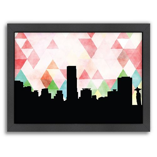 Americanflat Seoul Triangle Framed Wall Art