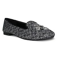 Olivia Miller Trish Women's Tweed Smoking Flats