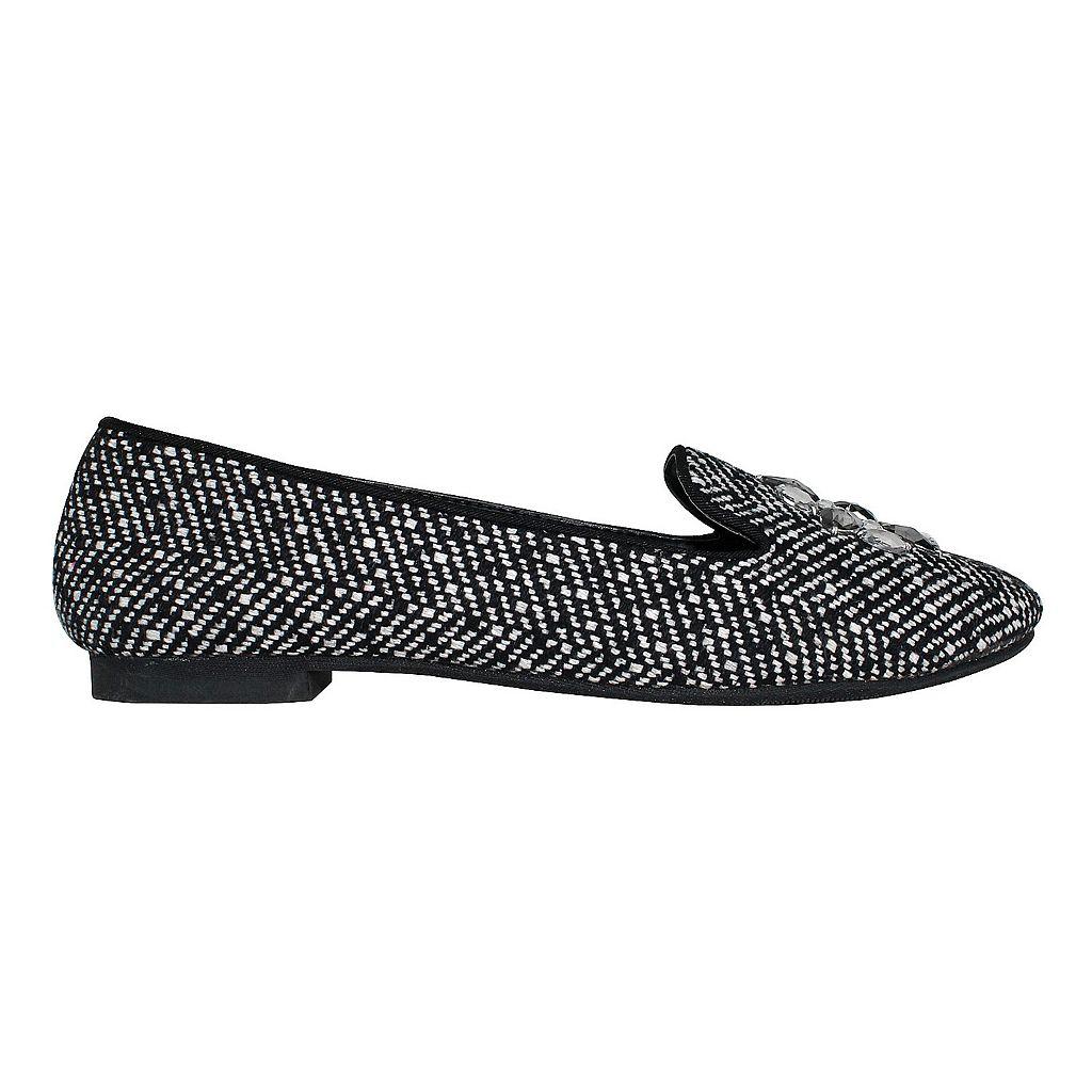 Olivia Miller Trish Women's Tweed Smoking Flats