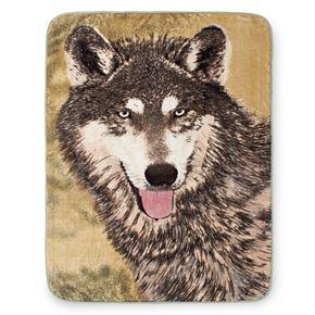 Brown Wolf Hi Pile Luxury Oversize Throw
