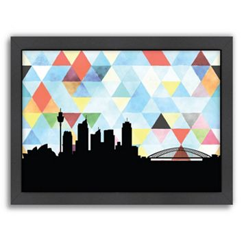 Americanflat Sydney Triangle Framed Wall Art