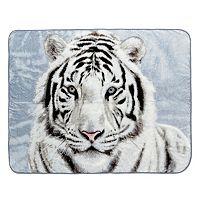 White Tiger Hi Pile Luxury Oversize Throw