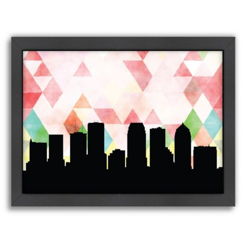 Americanflat Tampa Triangle Framed Wall Art