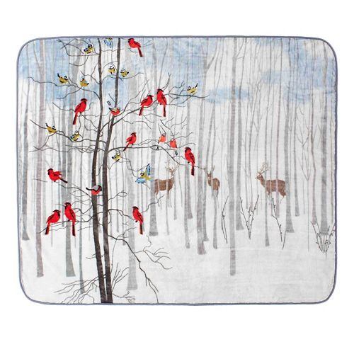 Forest Friends Hi Pile Luxury Oversize Throw