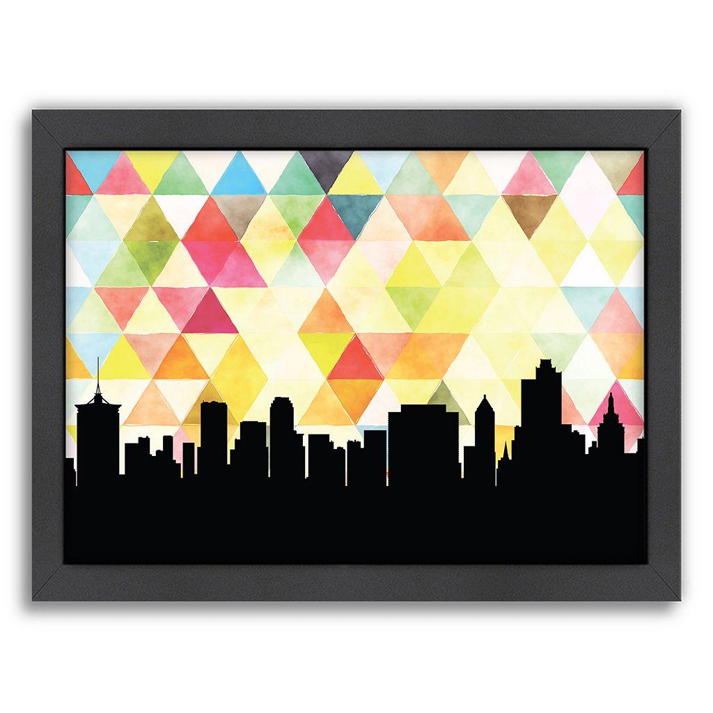Americanflat Tulsa Triangle Framed Wall Art