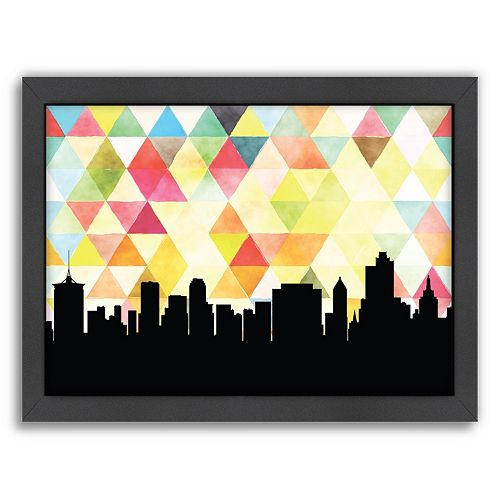 Americanflat Tulsa Triangle Framed Wall Art