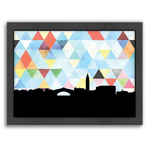 Americanflat Venice Triangle Framed Wall Art