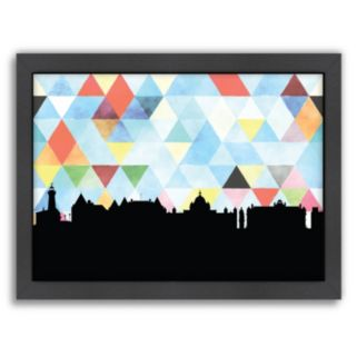 Americanflat Victoria Triangle Framed Wall Art