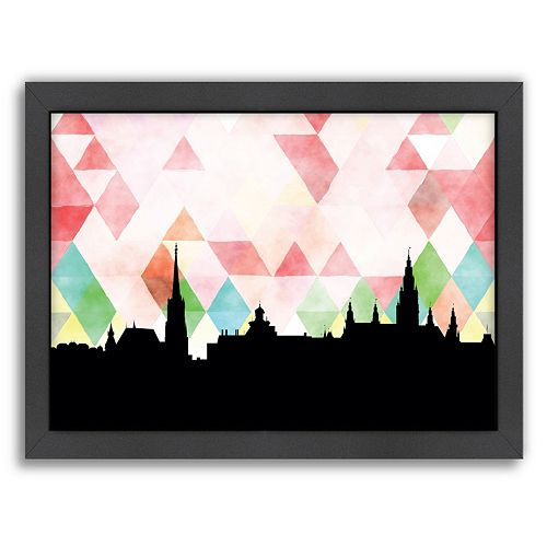 Americanflat Vienna Triangle Framed Wall Art
