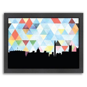 Americanflat Washington D.C. Triangle Framed Wall Art