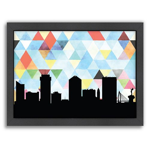 Americanflat Wichita Triangle Framed Wall Art