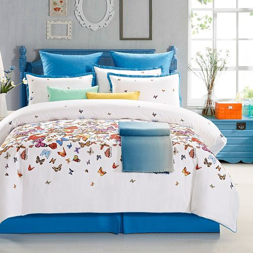 Butterfly 7-piece 300 Thread Count Duvet Cover Set