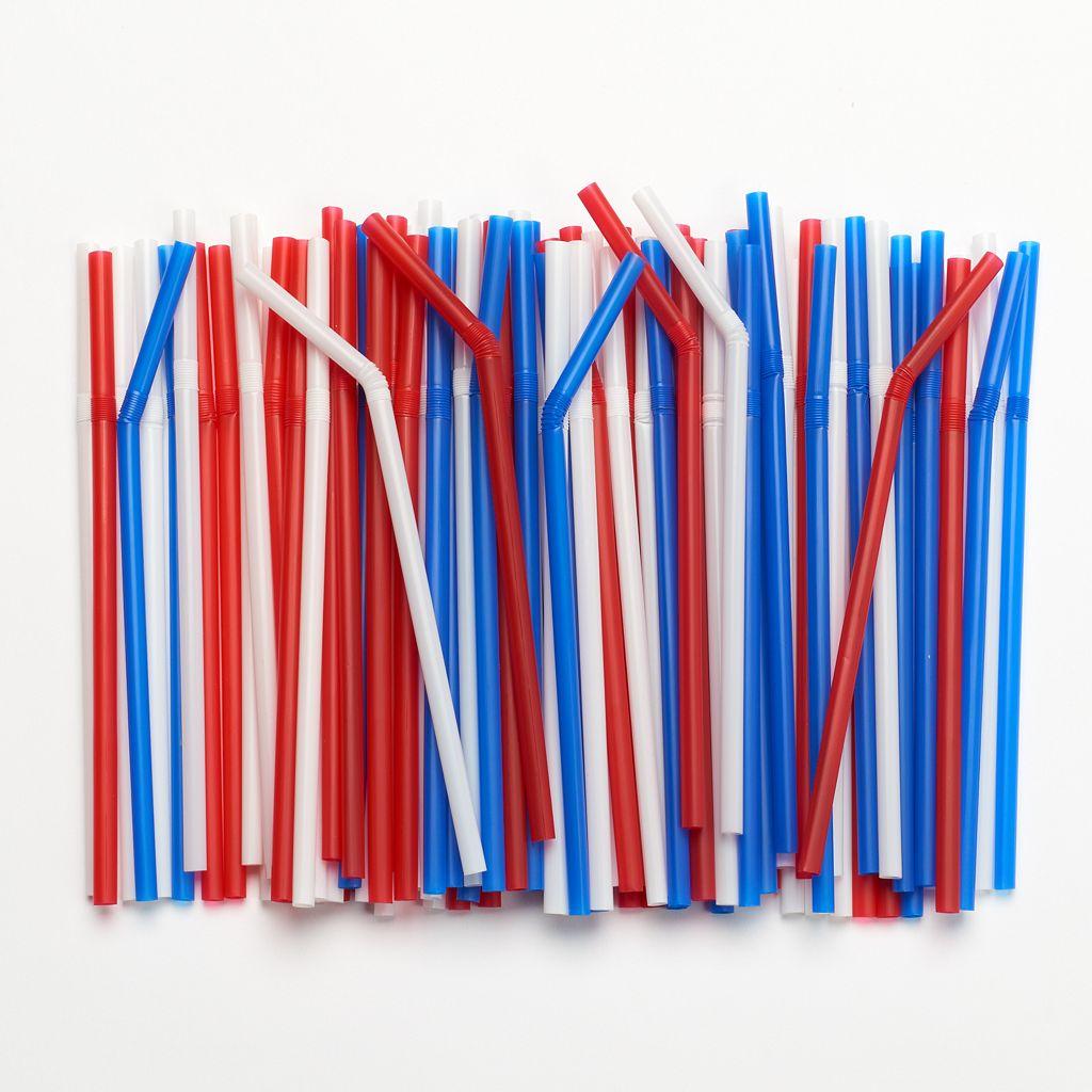Farberware Disposable Flexible Drinking Straws - 100-pk.