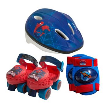 Kids Marvel Ultimate Spiderman Roller Skates Combo Set by Playwheels