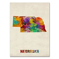 Trademark Fine Art State Watercolor Canvas Wall Art