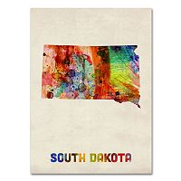 Trademark Fine Art State Watercolor Canvas Wall Art