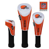 McArthur Cleveland Browns 3-Piece Golf Club Headcover Set