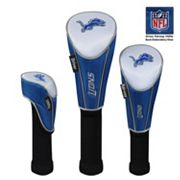 McArthur Detroit Lions 3 pc Golf Club Headcover Set