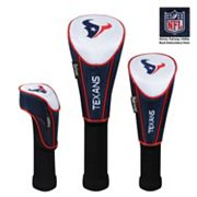 McArthur Houston Texans 3 pc Golf Club Headcover Set