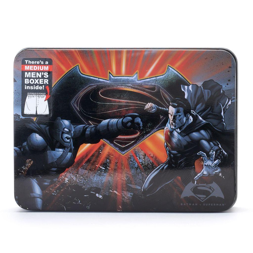 Men's DC Comics Batman v Superman: Dawn of Justice: Dawn of Justice Boxers in a Tin
