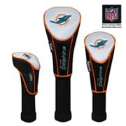McArthur Miami Dolphins 3 pc Golf Club Headcover Set