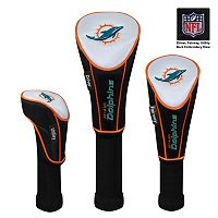 McArthur Miami Dolphins 3-Piece Golf Club Headcover Set