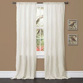Lush Decor 1-Panel Rosina Window Curtain - 52'' x 84''