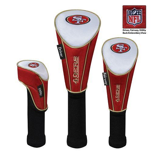McArthur San Francisco 49ers 3-Piece Golf Club Headcover Set
