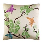 37 West Christy Embroidered Throw Pillow
