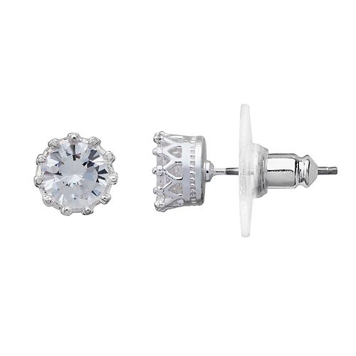 LC Lauren Conrad Crown Stud Earrings