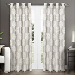 Exclusive Home 2-pack Akola Jacquard Window Curtains