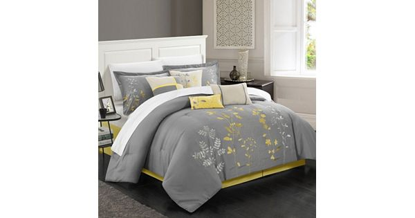 Chic Home Bliss Garden 8 Piece Oversized Bed Set