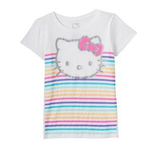 Girls 7-16 Hello Kitty® Rainbow Stripes Tee