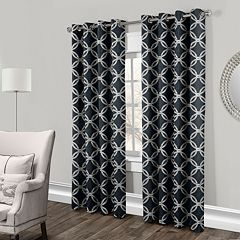 Exclusive Home 2-pack Modo Metallic Geometric Window Curtains