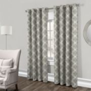 Exclusive Home 2-pack Modo Metallic Geometric Window Curtains