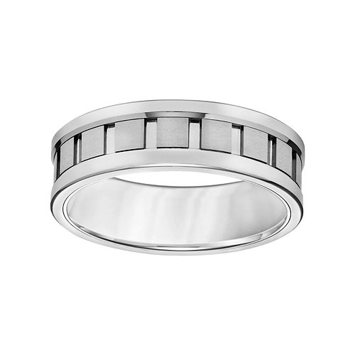 Simply Vera Vera Wang Tungsten Carbide Men's Wedding Band