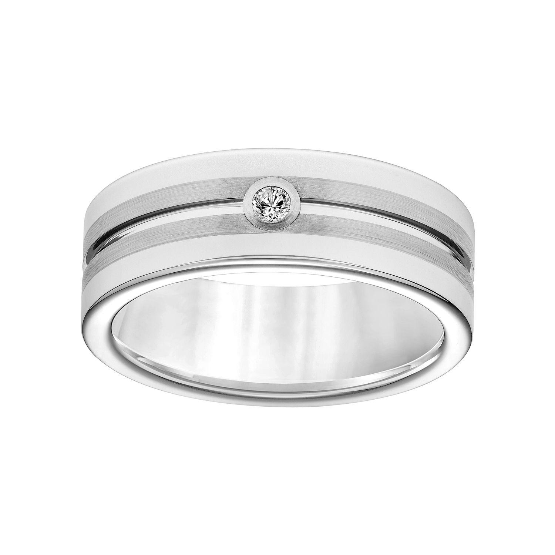 Simply Vera Vera Wang Tungsten Carbide Mens Wedding Band