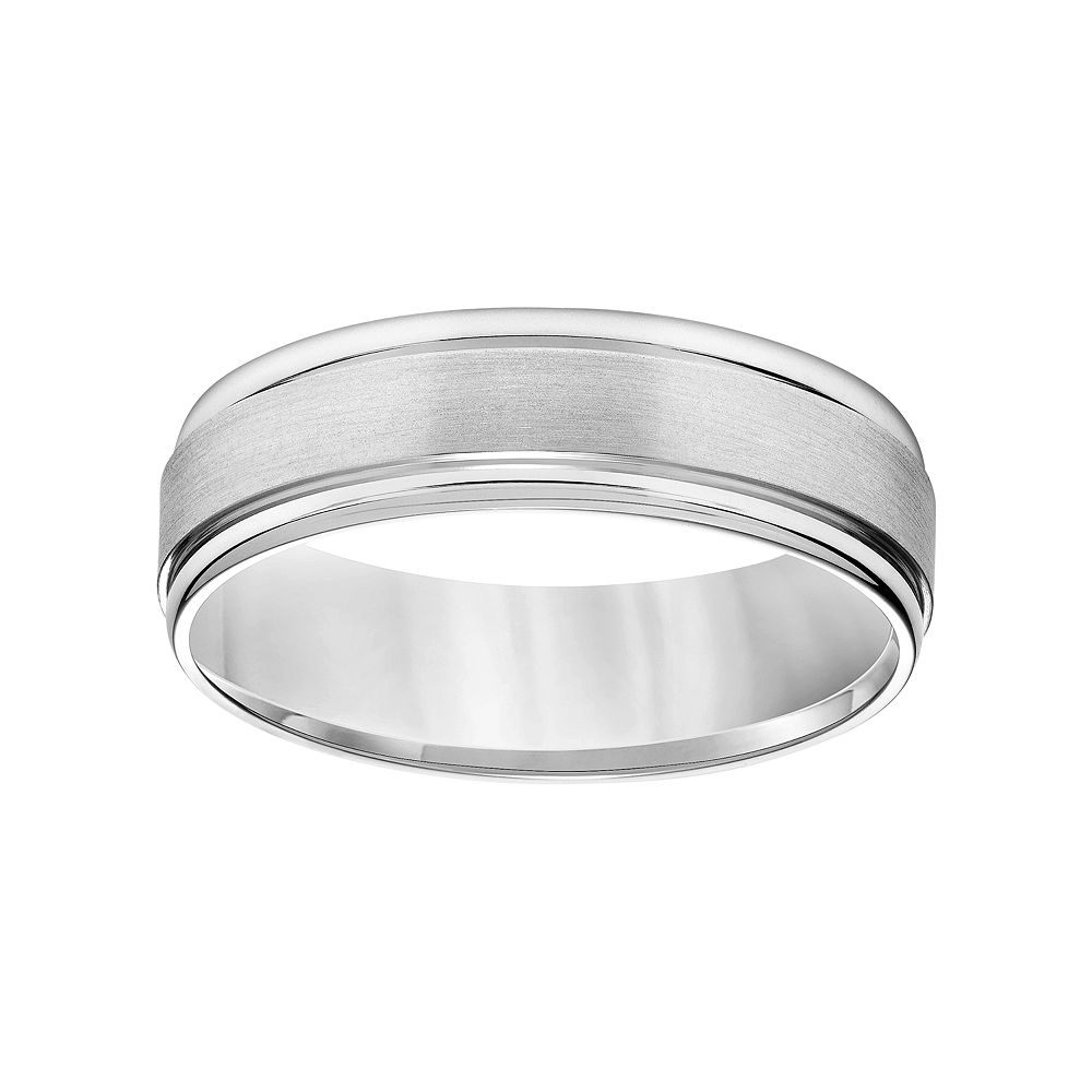 Simply Vera Vera Wang 14k White Gold Men\'s Wedding Band