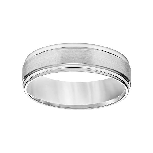 Simply Vera Vera Wang 14k White Gold Men's Wedding Band