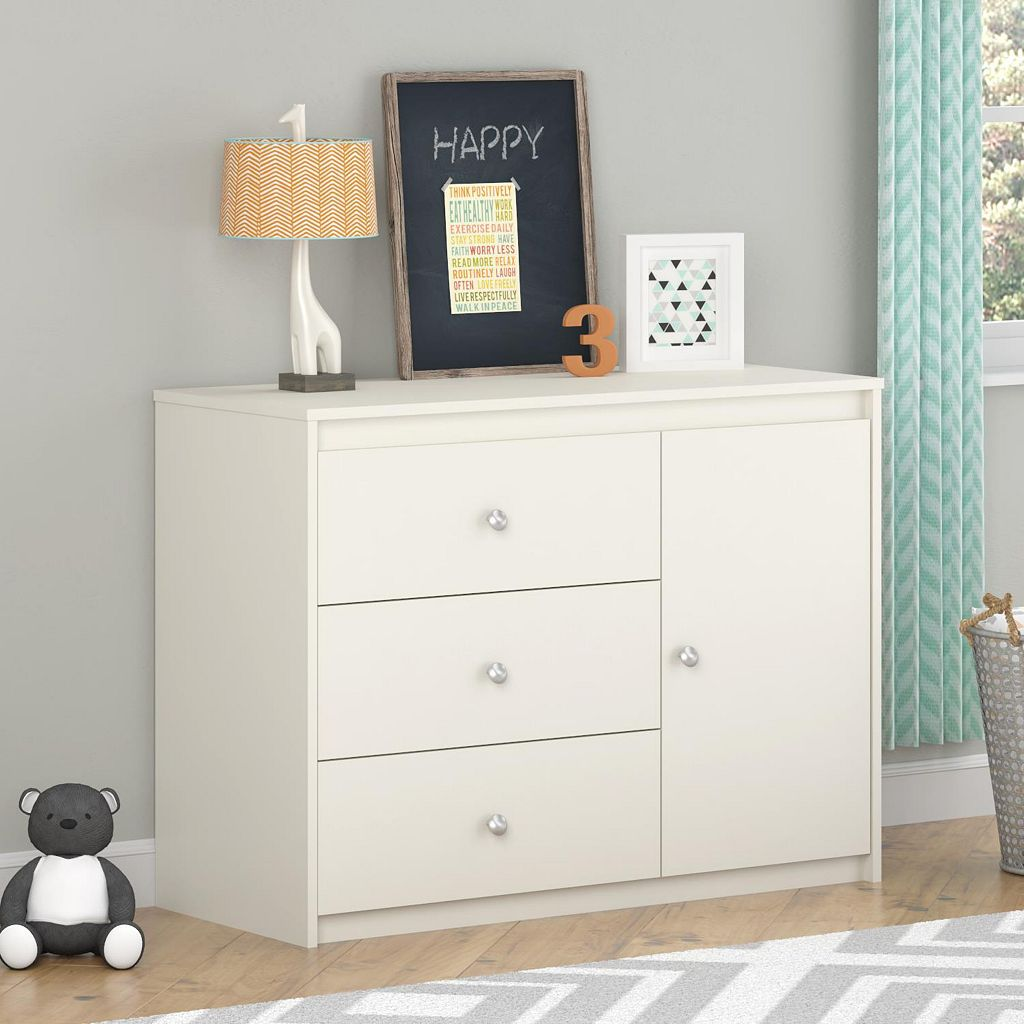 Cosco Elements Collection 3-Drawer Dresser & Bookcase
