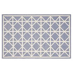 Safavieh Dhurries Kite Geometric Handwoven Flatweave Wool Rug