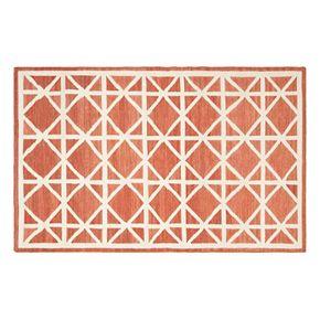 Safavieh Dhurries Kite Geometric Handwoven Flatweave Wool Rug