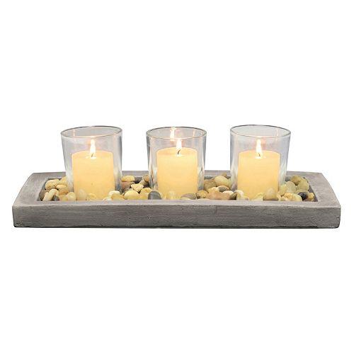 Stonebriar Collection Votive Candle Garden 4-piece Set