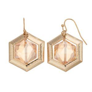 COCO LANE Hexagon Drop Earrings