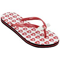 Women's Washington State Cougars Bow Flip-Flops